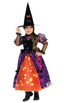 Pretty Witch For Sale - Dress with fiber optic twinkle skirt and hat. | The Costume Corner Fancy Dress Super Store