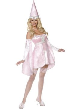 Princess For Sale - Fever Boutique Princess 5 Piece Costume, Pink, Dress, Corset, Stockings, Hat, Sleeves | The Costume Corner Fancy Dress Super Store