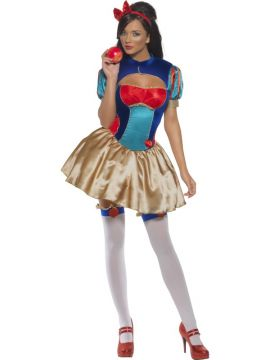 Princess Snow For Sale - Fever Princess Snow Costume, With Dress, Shrug and Headpiece | The Costume Corner Fancy Dress Super Store