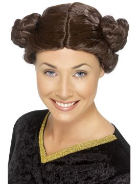 Princess Wig For Sale - Princess Wig, Brown, 2 Plaited Buns | The Costume Corner Fancy Dress Super Store