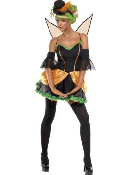 Pumpkin Fairy For Sale - Rebel Toons Pumpkin Fairy, Dress, Arm Sleeves, Top Hat, Wings and Stockings | The Costume Corner Fancy Dress Super Store