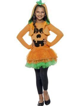 Pumpkin Tutu Dress Costume For Sale - Pumpkin Tutu Dress Costume, Orange, with Tutu Dress and Jacket with Pumpkin Hood, in Display Bag | The Costume Corner Fancy Dress Super Store