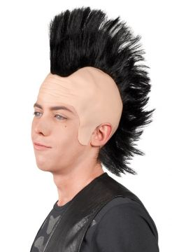 Punk mohawk wig in black For Sale - Punk mohawk wig in black | The Costume Corner Fancy Dress Super Store