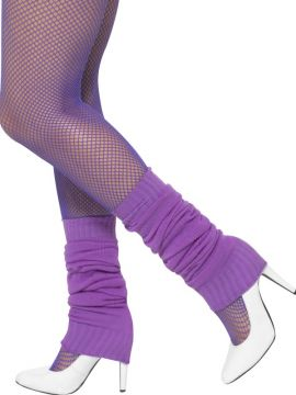 Purple Leg Warmers For Sale - Leg Warmers, Purple | The Costume Corner Fancy Dress Super Store