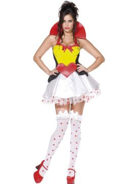 Queen Of Broken Hearts For Sale - Fever Queen Of Hearts Costume, Dress With Collar | The Costume Corner Fancy Dress Super Store