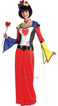 Queen Of Hearts For Sale - This exciting creation is a heady mix of Alice Through the Looking-glass and a Sixties Carnaby Street scene. Come to life as everyone's favourite playing card and shuffle the d... | The Costume Corner Fancy Dress Super Store