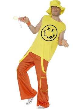 Raver For Sale - Raver Costume, Yellow, Top, Trousers and Hat | The Costume Corner Fancy Dress Super Store