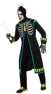 Ravin Skeletech For Sale - Coat, Hood & Liteup Headband. | The Costume Corner Fancy Dress Super Store