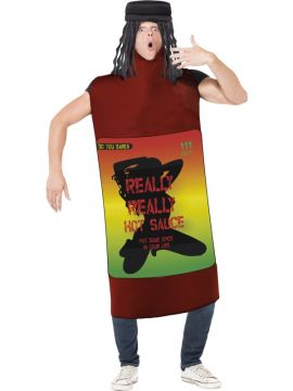 Really Really Hot Sauce Costume For Sale - Really Really Hot Sauce Costume, Red, Bodysuit and Attached Dreadlocks, in Display Bag | The Costume Corner Fancy Dress Super Store