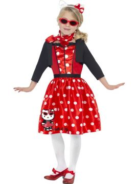 Retro 50's Cherry - Hello Kitty For Sale - Hello Kitty Retro 50'S Cherry Costume, Red, Includes Dress, Headband and Neckscarf | The Costume Corner Fancy Dress Super Store