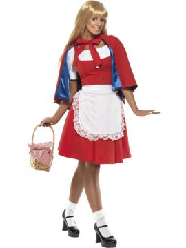 Red Riding Hood For Sale - Red Riding Hood Costume, Adult, With Dress, Apron and Cape With Hood | The Costume Corner Fancy Dress Super Store