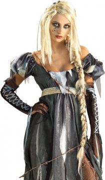 RIPunzel Wig For Sale - Split ends and a pony tail to die for combine to create an unfettered look likely to beguile any guard. Escape the chain gang, go on the run and turn your rags to riches. | The Costume Corner Fancy Dress Super Store