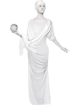 Roman Statue For Sale - Roman Female Statue Costume, Grey, Dress and Latex Hair Piece | The Costume Corner Fancy Dress Super Store