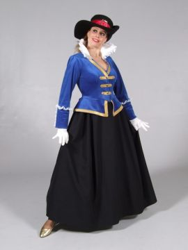 Royal Blue Lady Musketeer For Sale - Royal Blue Lady Musketeer (Hire Costume) | The Costume Corner
