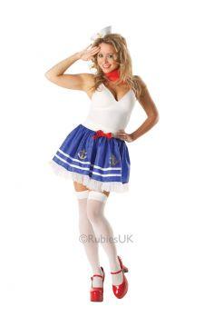 Sailor Tutu For Sale - Adult sailor tutu set. Includes: headpiece, neck scarf and skirt. | The Costume Corner Fancy Dress Super Store