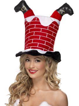 Santa Stuck in Chimney Hat For Sale - Santa Stuck in Chimney Hat | The Costume Corner Fancy Dress Super Store