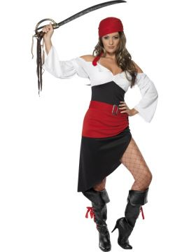 Sassy pirate wench For Sale - Sassy Pirate Wench With Skirt, Top, Belt and Headscarf | The Costume Corner Fancy Dress Super Store