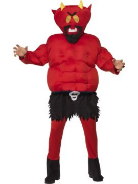 Satan For Sale - South Park Devil Padded Costume, Red, Wth Body Suit and Headpiece | The Costume Corner Fancy Dress Super Store