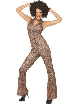 90s Icon - Scary For Sale - Scary Power, 1990's Icon Costume, Brown, Leopard Print Jumpsuit | The Costume Corner Fancy Dress Super Store