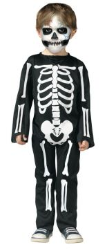Scary Skeleton - Toddler For Sale - Printed Skeleton jumpsuit | The Costume Corner Fancy Dress Super Store