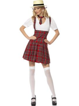 Schoolgirl Costume For Sale - Schoolgirl Costume, with Dress, Tie and Hair Bows, in Display Bag | The Costume Corner Fancy Dress Super Store