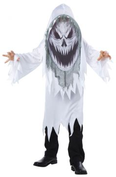 Screaming Ghost Mad Creeper For Sale - Robe, hood with photoprint mad creeper face | The Costume Corner Fancy Dress Super Store