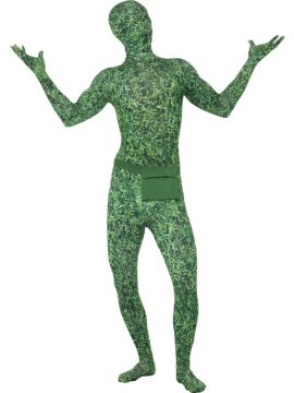 Second Skin Costume, Grass Pattern For Sale - Second Skin Costume, Grass Pattern, with Bum Bag, Concealed Fly and Under Chin Opening, in Display Bag | The Costume Corner Fancy Dress Super Store
