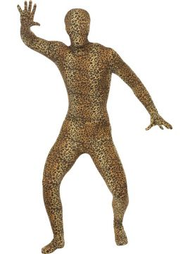 Second Skin Costume, Leopard Pattern For Sale - Second Skin Costume, Leopard Pattern, with Bum Bag, Concealed Fly and Under Chin Opening, in Display Bag | The Costume Corner Fancy Dress Super Store