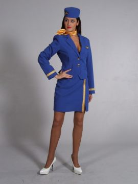 Sexy Air Hostess Royal Blue For Sale - Sexy Air Hostess Royal Blue | The Costume Corner