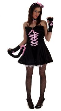 Sexy Cat Dress For Sale - Contains dress, headpiece, choker, glove & tail Standard Womens One Size | The Costume Corner Fancy Dress Super Store