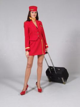 Sexy Red Air Hostess For Sale - Sexy Red Air Hostess | The Costume Corner