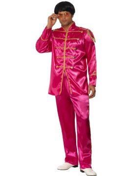 SGT Pepper For Sale - Sergeant Pepper Costume, Pink, With Jacket and Trousers | The Costume Corner Fancy Dress Super Store
