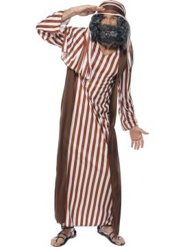 Shepherd For Sale - Shepherd Costume, Brown and White, With Robe and Headpiece | The Costume Corner Fancy Dress Super Store