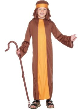 Shepherd For Sale - Shepherd Costume, Brown, with Robe and Headpiece | The Costume Corner Fancy Dress Super Store