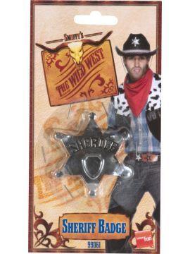 Acc - Cowboy Sheriff Star Badge For Sale - Cowboy - Sheriff Star Badge, Metal, 65mm | The Costume Corner Fancy Dress Super Store