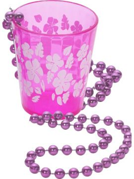 Shot Glass For Sale - Shot Glass on Beads, Hot Pink | The Costume Corner Fancy Dress Super Store