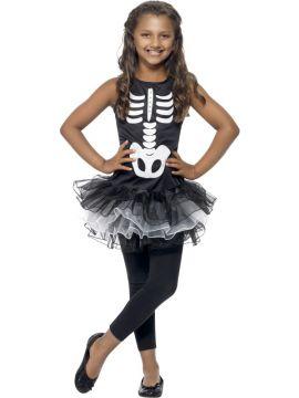 Skeleton Tutu Costume For Sale - Skeleton Tutu Costume, Black & White, Printed Dress with Tutu, in Display Bag | The Costume Corner Fancy Dress Super Store