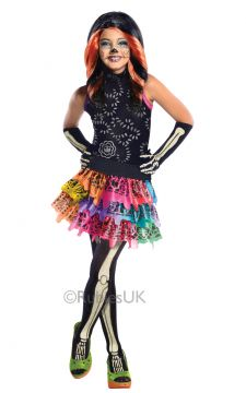 Skelita For Sale - Dress, belt, gloves & tights | The Costume Corner Fancy Dress Super Store