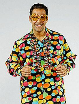 Small Bubble Print Frill Shirt For Sale - Bubble Print Frill Shirt Small Design (Hire Costume) | The Costume Corner
