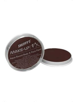 Dark Brown Face and Body Paint For Sale - Smiffy's Make-Up FX, Aqua Face and Body Paint, Dark Brown, 16ml, Water Based | The Costume Corner Fancy Dress Super Store