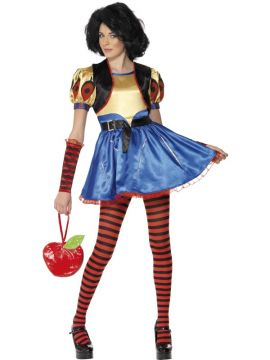 Snow White For Sale - Teen Rebel Toons Snow White Costume, Dress With Attached Waistcoat, and Gloves | The Costume Corner Fancy Dress Super Store