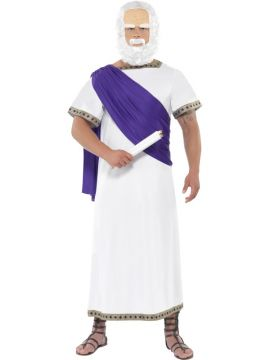 Socrates For Sale - Socrates Costume, White, Robe With Scarf and Scroll | The Costume Corner Fancy Dress Super Store