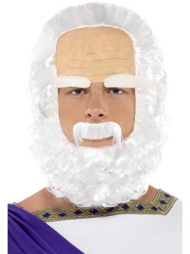 Socrates Wig For Sale - Includes Wig, Beard and Brows. | The Costume Corner Fancy Dress Super Store