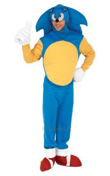 Sonic For Sale - Sonic the Hedgehog Costume. Includes bodysuit and mask. | The Costume Corner Fancy Dress Super Store