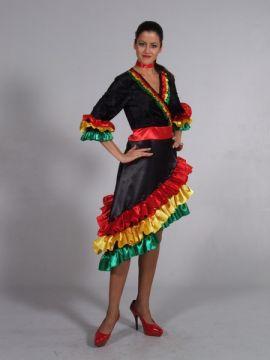 Spanish Dress Coloured For Sale - Spanish Lady Coloured (Hire Costume) | The Costume Corner