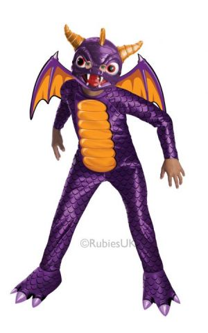 Spyro For Sale - Spyro Costume. Includes mask, wings and body suit. | The Costume Corner Fancy Dress Super Store