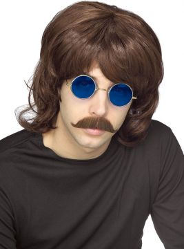 70s Shag Wig - Brown For Sale - Brown 70s Shag Wig | The Costume Corner Fancy Dress Super Store