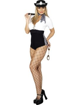 Stop And Search For Sale - Fever Stop & Search Costume, With All-In-One and Scarf | The Costume Corner Fancy Dress Super Store