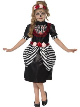 Sugar Skull Costume For Sale - Includes Dress and Rose Headband | The Costume Corner Fancy Dress Super Store