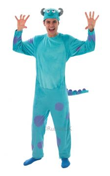 Sulley For Sale - Sulley all in one furry printed jumpsuit & Headpiece. James P. Sullivan is the name, known to his mates as Sulley. See how many screams you can harvest with your sidek... | The Costume Corner Fancy Dress Super Store